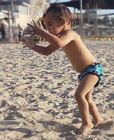 צילום ילדים בים
