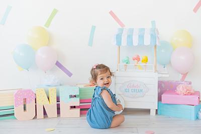 צילום תינוקת גיל שנה בסטודיו - צלמת רוני ישראל